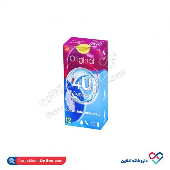 کاندوم اوریجینال فوریو   12 عددی   کاندوم ساده   حاوی روان کننده و بدون اسانس و رایحه