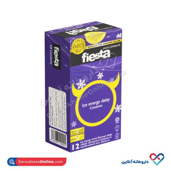 کاندوم خنک انرژی تاخیری فیستا   12 عدد   حاوی بنزوکائین برای ایجاد تاخیر و لذت بیشتر
