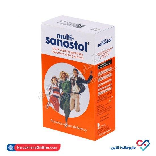 شربت مولتی سانستول  155 میل   مولتی ویتامین به همراه کلسیم جهت رشد کودکان