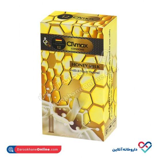 کاندوم مدل هانی میلک کلایمکس   12 عددی   خاردار همراه با اسانس شیر عسل