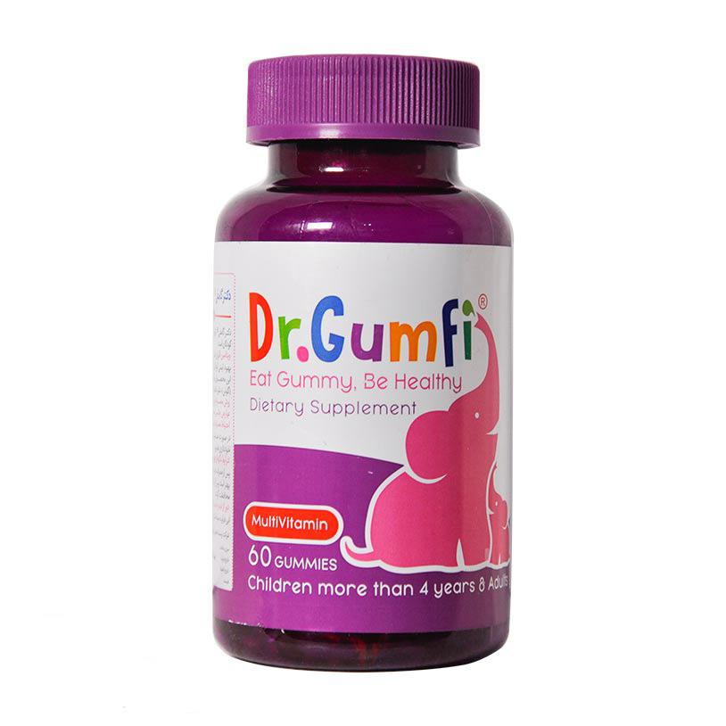 پاستیل مولتی ویتامین دکتر گامفی | 60 عدد | کمک به رشد کودک - بهبود سیستم ایمنی بدن کودکان