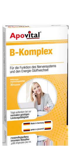 کپسول ب کمپلکس آپوویتال | 30 عدد | تنظیم عملکرد سیستم عصبی، کاهش استرس، تامین انرژی