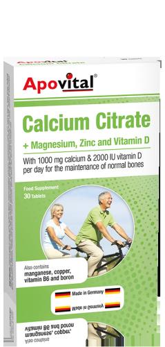 قرص کلسیم سیترات آپوویتال | 30 عدد |حفظ سلامت استخوان و عملکرد طبیعی عضلات