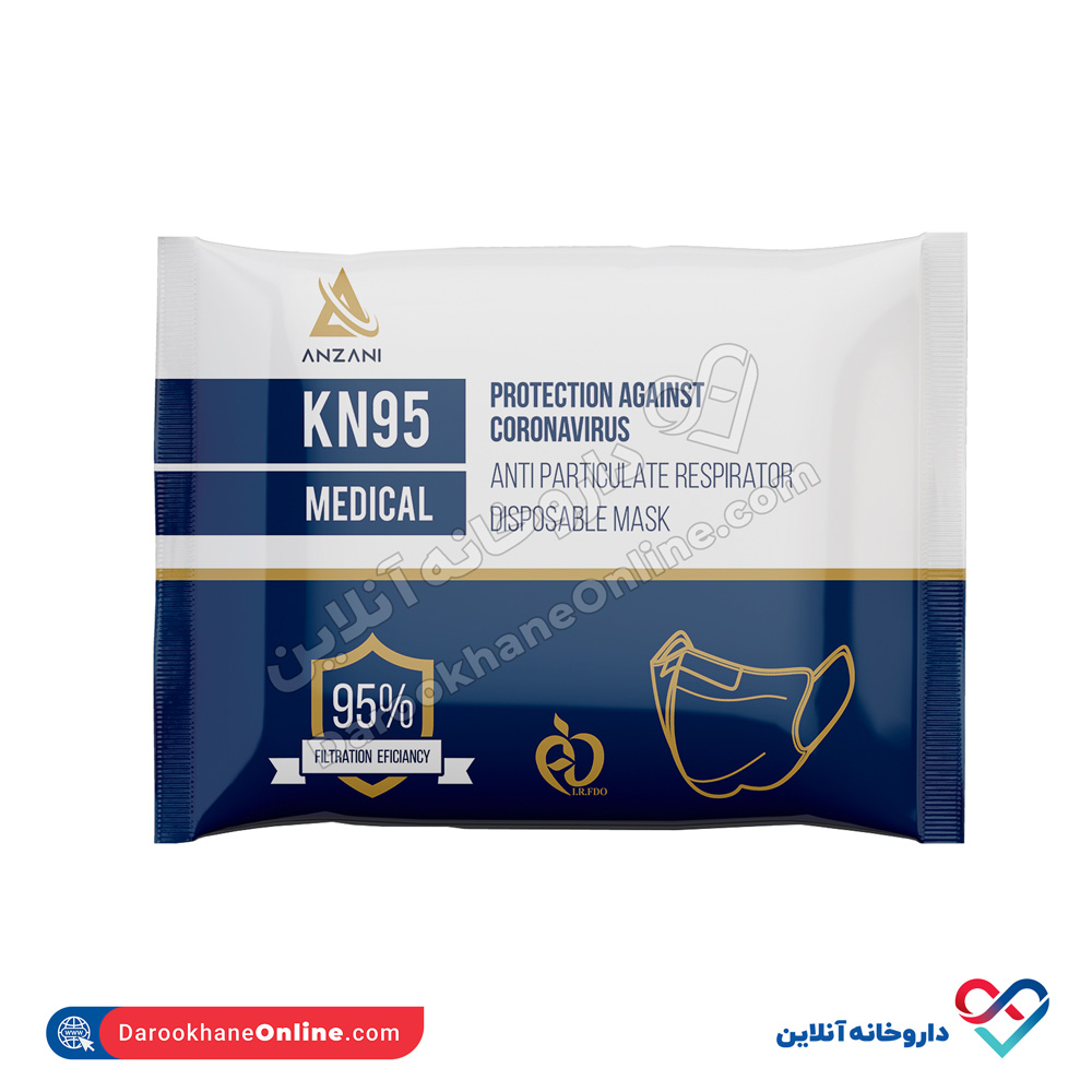 ماسک KN95 بدون سوپاپ | 7 لایه و قدرت جذب 95 درصد از آلودگیهای تنفسی
