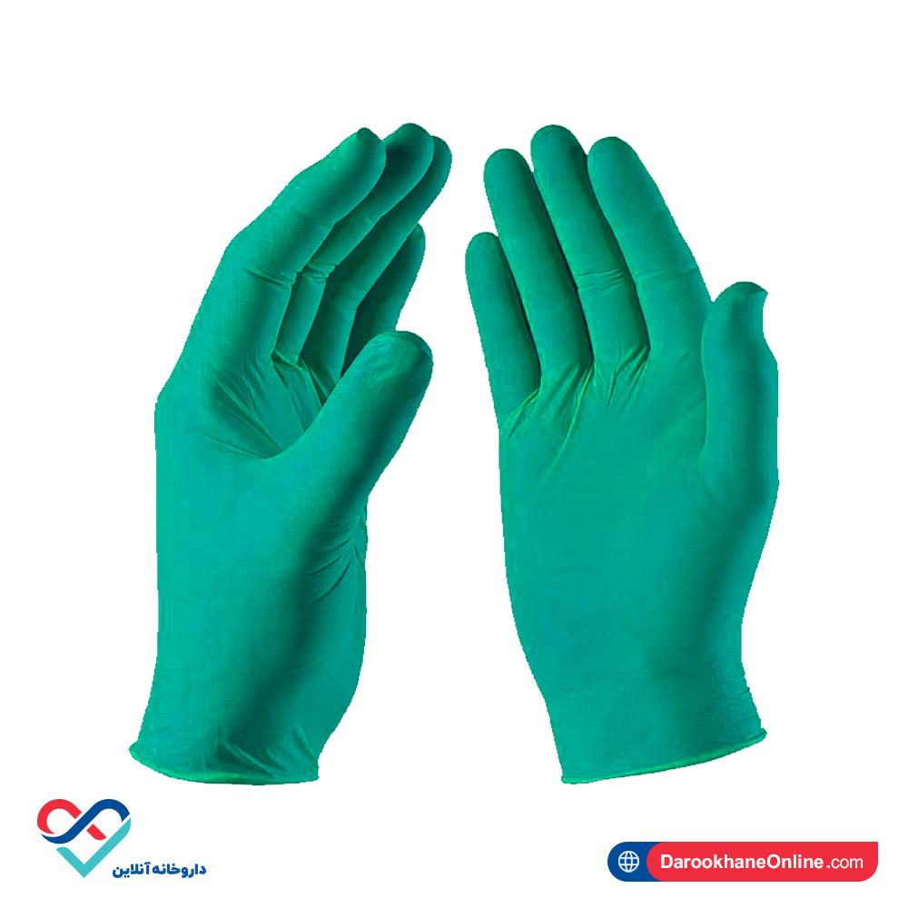 دستکش نیتریل | بسته 10 عددی | NITEX | سبز رنگ