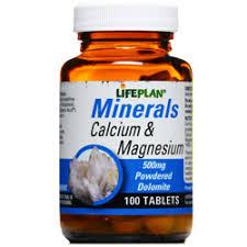 قرص مینرال کلسیم و منیزیوم لایف پلن | 100 عدد | کمک برای حفظ سلامتی و استخوانها و دندان